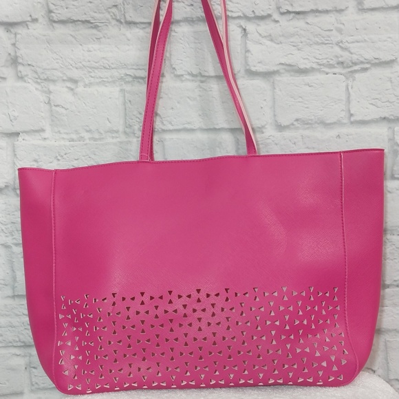 Bath & Body Works Handbags - Bath & Body Works | Pink Laser Cut Tote & Bag